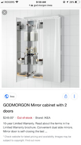 GODMORGON MIRROR WITH STORAGE - IKEA BRAND NEW