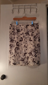 Floral Knee-Length Pencil Skirt, Great Condition