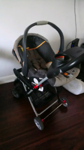 Gently used Snap n go stroller Chicco key fit car seat base
