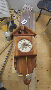 Equestrian themed handcrafted wood clock