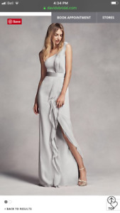 Silver Vera Wang bridesmaid dress