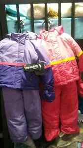 Toddler girls and boys snow suit reduced price..