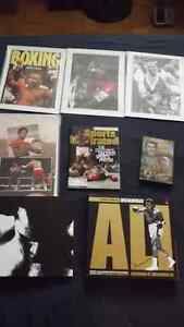 9 VARIOUS MUHAMMAD ALI /BOXING COLLECTORS ITEMS/PACKAGE DEAL