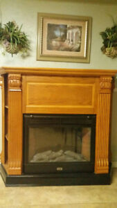 Gorgeous electric fireplace made by sunbeam