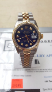 **ROLEX** 18K Two-Tone Oyster Perpetual DateJust Men's Watch