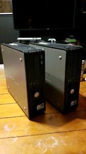 2x Dell optiplex 755 PC's complete and working with Windows 7