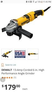 ***GRINDING MONSTER* DEWALT 13amp HIGH PERFORMANCE