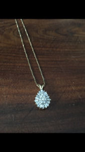 Pear shaped necklace 1ct