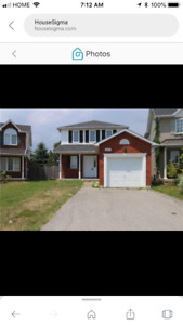 5 beds and 3 baths house in Oshawa