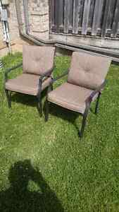 2 patio chairs with cushions excellent condition Stratford Kitchener Area image 1