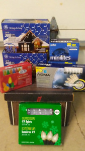 7 BOXES OF BRAND NEW DECORATIVE LIGHTS OR CHRISTMAS LIGHTS