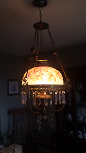 Flower pattern Gone with the Wind lamp