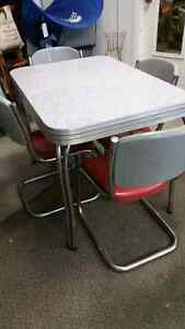 1950s retro table and chairs