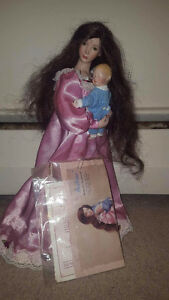 Porcelain Doll Mother and Child