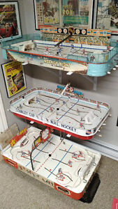 1950s, 60, & 70s Vintage Table Top Hockey Games