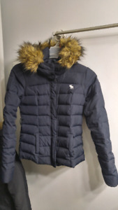 Abercrombie & Fitch Bomber Winter Jacket DOWN