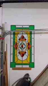 Vintage stained glass windows and doors