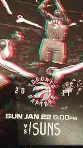 Raps vs. Suns FRONT ROW BELOW FACE