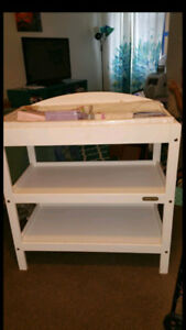 **White Changing Table**
