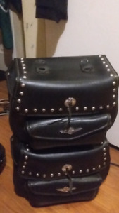 LEATHER MOTORCYCLE BAGS FIT ON HONDA SHADOWS
