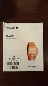 "Nixon Watch ""Player"" in Rose Gold"