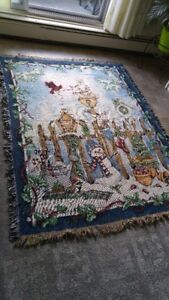 FOR SALE IN STRATHROY - Collectors Woven Christmas Blanket