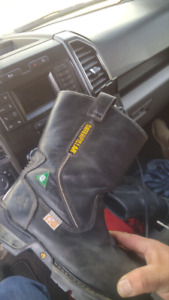 Almost new catapiller extreme slip on steel toe work boots
