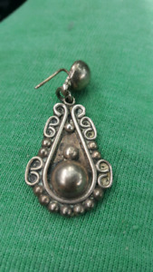 OLD THICK SILVER EARING