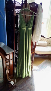 Green prom or formal gown