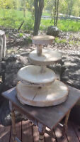 Rent - Rustic Cup Cake Stand and Rustic Country Wedding Decor