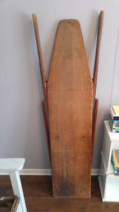 Vintage wooden ironing board.