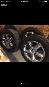 "20"" OEM Avalanche LTZ wheels, New 275/55/20 tires"