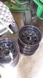 4 Pro comp 15 inch rims off a jeep tj
