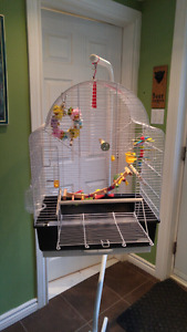 Brand new small bird cage with food and accessories