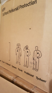 Almost full box Dupont Coverall Tyvek Proshield Suits Large Size