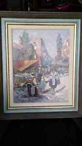Antique painting signed