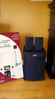subwoofer/ 1 set surround sound speakers with stands