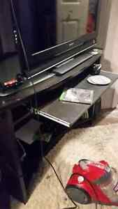 Corner tall desk with shelves and pullout keyboard tray Cambridge Kitchener Area image 3