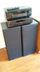 Sony Sound System - Speakers, Receiver and 5 Disc CD PLayer