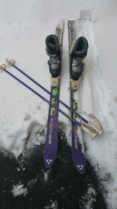 FISCHER SKIS / KERMA POLES / HEAD BOOTS FOR KIDS FOR SALE