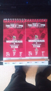 Moosehead tickets for feb 2nd
