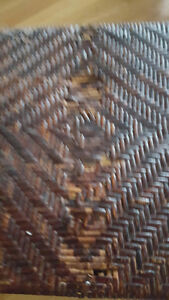 Wicker/cast iron chair/table Kitchener / Waterloo Kitchener Area image 2