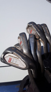 Inexpensive set of clubs with bag