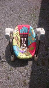 Swing, stroller and bouncy chair