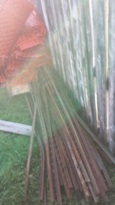 t bar fence posts 6 ft long for fences or new trees ,
