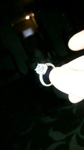 Size 8 silver ring