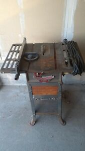 Beaver-Rockwell Tablesaw/ Tabletop Drill Press / Welder's Mask