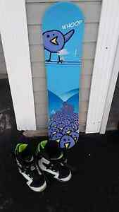 110 Firefly board and Sims size 4.5 boots