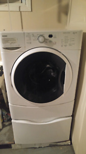 Kenmore HE 2 plus. Front loading washer & dryer with pedestals