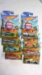HOT WHEELS DIE CAST HAPPY EASTER 2014 FULL SET OF 8 CARS